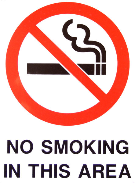 no smoking: no smoking in this area sign