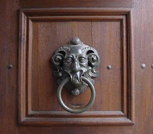 Door knocker: Clapper from bishops' palace in Bamberg, Germany