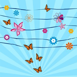 Butterflies & flowers: Butterflies