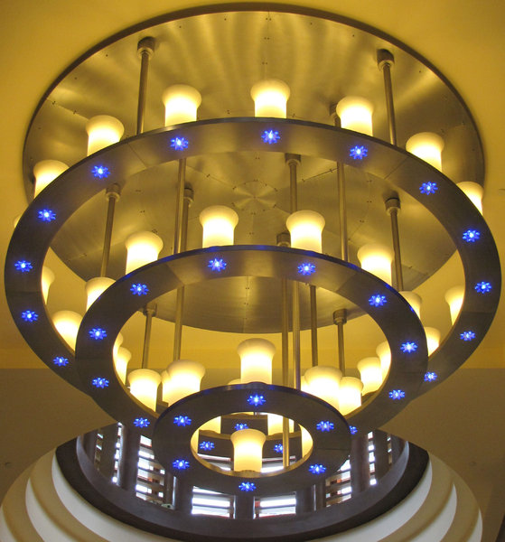 lights from above: a variety of multiple light fixtures