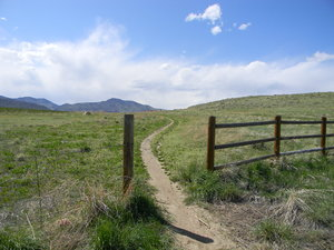 Trailhead: Some photos of a trail in Bear Creek Lake Park, with Mt. Morrison (which reaches 7,878 ft) in the distance.