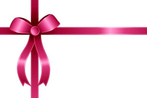 Color Ribbon and Bow 4: Color ribbon with a bow on the background of flowers