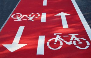 Bicycle path sign: Bicycle path sign