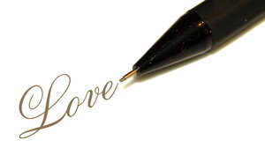 Pencil writes Love