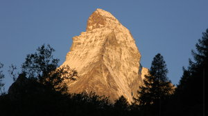 The Matterhorn!: Some shots of the sun coming up on the Matterhorn just above Zermatt, Switzerland.
