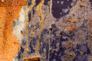 Rust and Paint: Peeling paint and metal corrosion