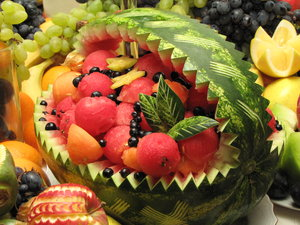 fruit sculpture: no description