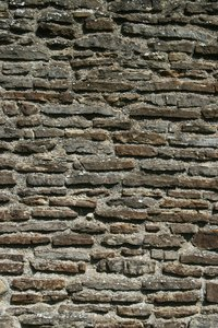 Old church wall: Wall of an old church in West Sussex, England.