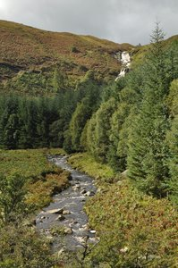 Waterfall: Stream from waterfall in Wales