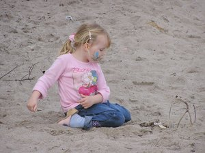 on the beach...: little girl...