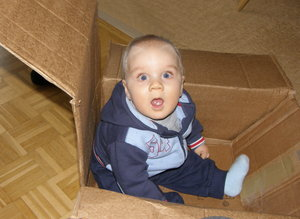child in a box: stunning...