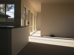 light in: new house interior with winter light