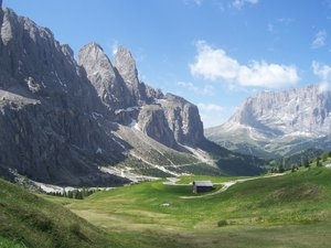 DOLOMITI'S PASS: A road across a Dolomit's pass