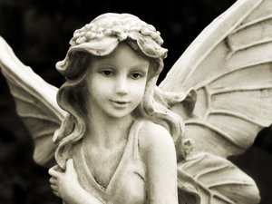 Angel: sepia stone angel
