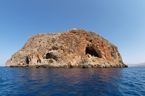 Deserted Island: The Island Theodori, just north of Crete, Greece.