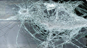 roadside wreck: vandalised roadside dumped vehicle