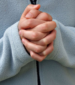 hands2: woman's folded hands - as in prayer