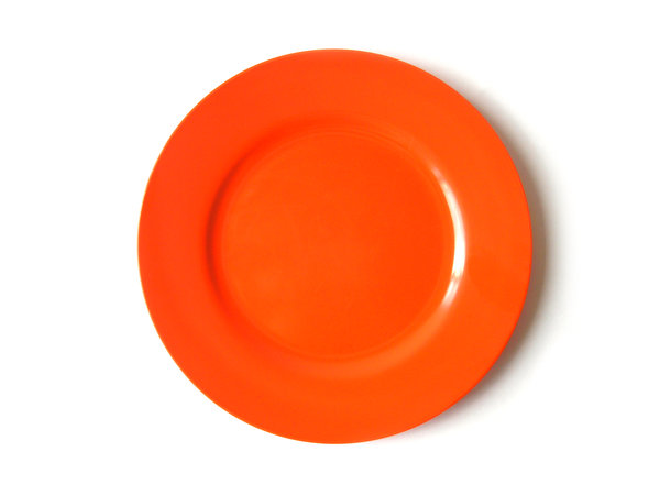 No food for you! 2: Empty plastic orange plate