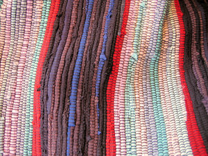 colourful knitwear carpet