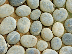 pebble path close-up