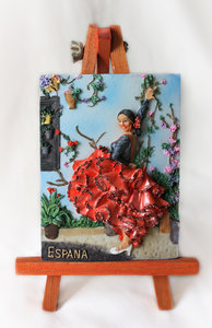 Flamenco dancer: Textured picture of a flamenco dancer