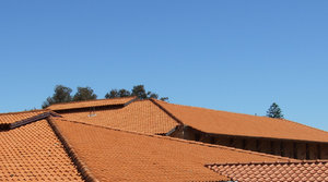 Orange & blue - roof tile angl