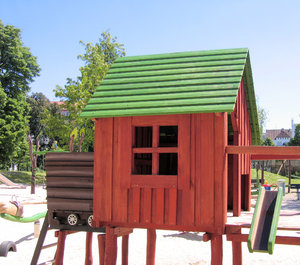 wooden house - playground