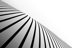 Black Striped Perspective 2: Black stripes on a white background