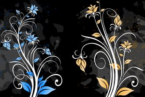 Yet Another Floral 6: Colorful floral elements on a white background. Which do you like most? ;)