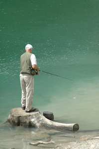 Fisherman: A fisherman in Switzerland