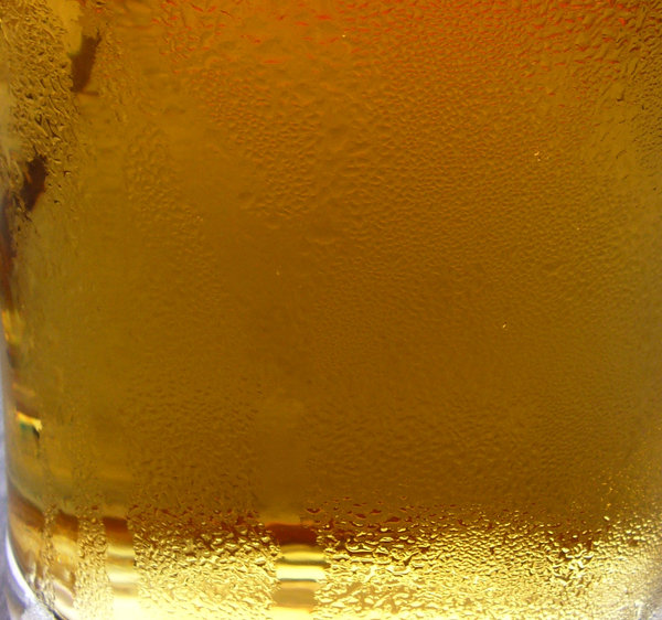Beer: Glass of cold Lager