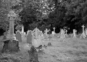Graveyard: church Graveyard
