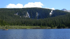 Canoe on Brainard Lake, CO