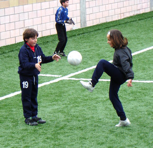 Soccer school: little campions