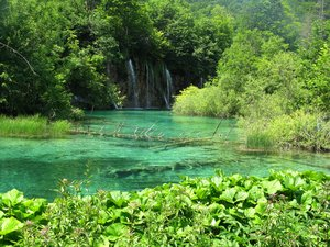 plitvice waterfalls: none
