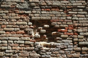 Brick texture: Old brick walls in Venice, Italy.