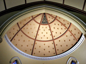 domed ceiling arches: church interior arched domed ceiling