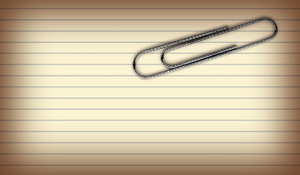 Paper Clip: A paper clip on an index card.