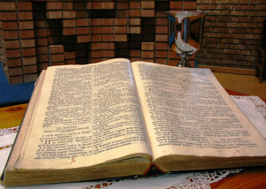 Bible and cup: no description