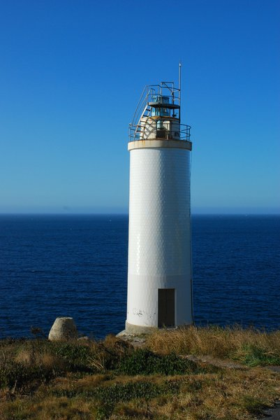 Laxe's lighthouse: Laxe's lighthouse, Deadth coast, Coruña, Galicia, Spain, Europe