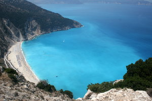 Myrtos Beach, Kefalonia: View from above Myrtos Beach, Kefalonia