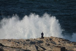 Sea waves power 2: Sea waves in Coruña city. This is what I see when I look out of my window.