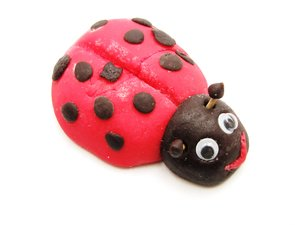 lady bug: just my children being creative with marzipan :-)