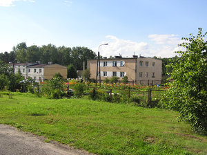 A village buildings: Konewka, Poland.