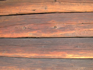 log cabin wall: no description