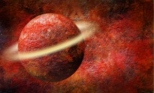 Red planet: orb in space