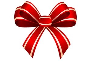 Red Bow: Red bow on the white background