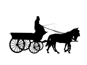 silhouette horse drawn carriag: Adobe Illustrator CS5
