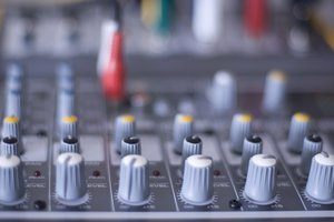 Sound Mixer: controls on an audio mixer