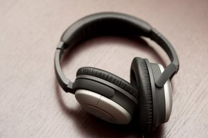 headphones: a pair of stereo headphones
